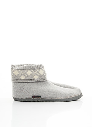 Chaussons/Pantoufles gris GIESSWEIN pour homme