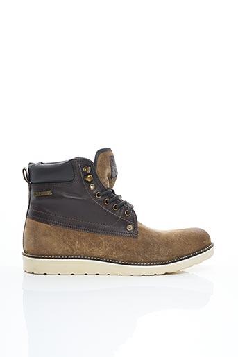 Bottines/Boots beige KAPORAL pour homme