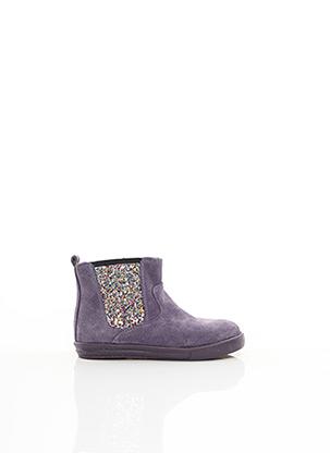 Bottines/Boots violet MINIBEL pour fille