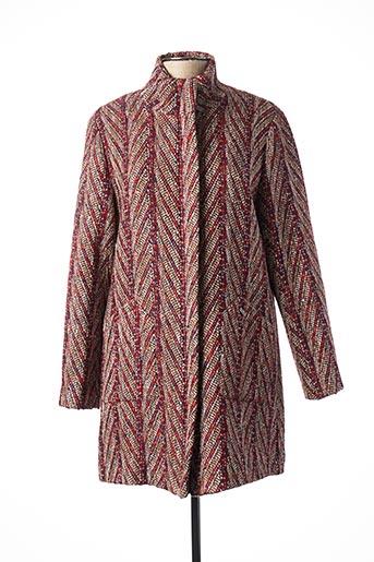 Manteau long rouge THALASSA pour femme