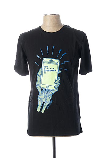 T-shirt manches courtes noir QUIKSILVER pour garçon