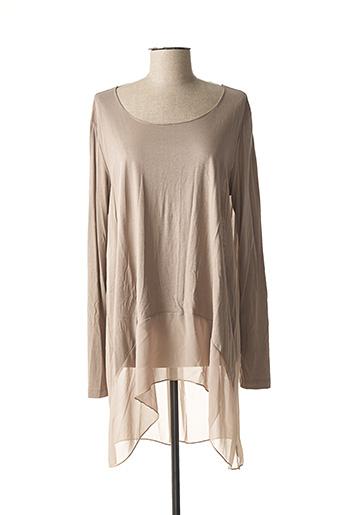 T-shirt manches longues gris BSB pour femme