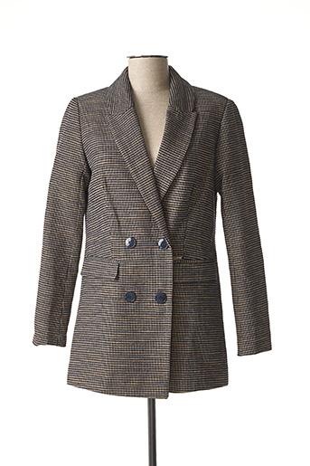 Manteau long gris SALSA pour femme