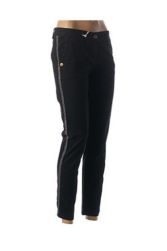 Pantalon 7/8 noir PAKO LITTO pour femme