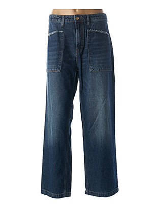 Jeans coupe large bleu HAPPY pour femme