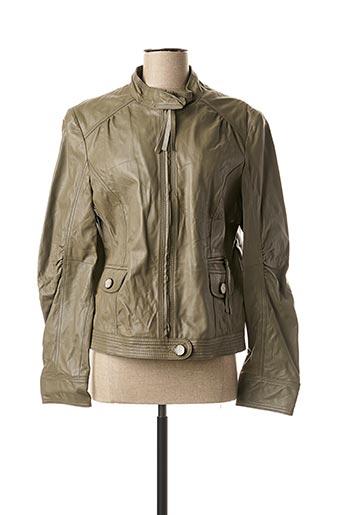 Veste en cuir gris DE.CORP BY ESPRIT pour femme