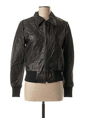 Veste en cuir noir KILIWATCH pour femme