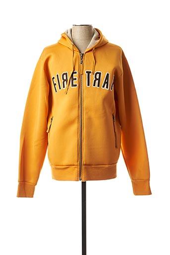 Gilet manches longues orange FIRETRAP pour homme