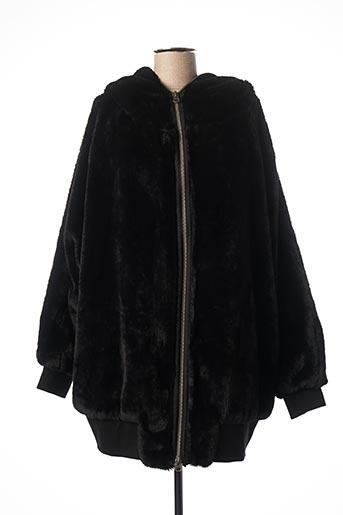 Manteau long noir FREE PEOPLE pour femme