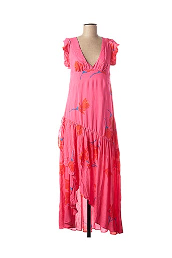 Robe longue rose FREE PEOPLE pour femme