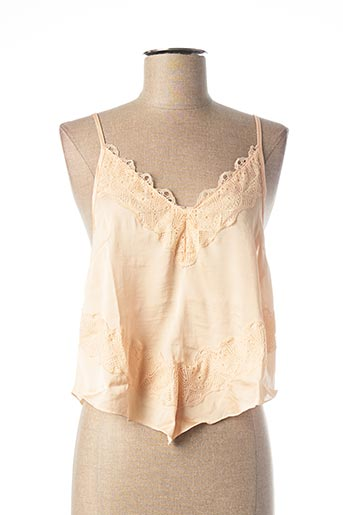 Top beige FREE PEOPLE pour femme