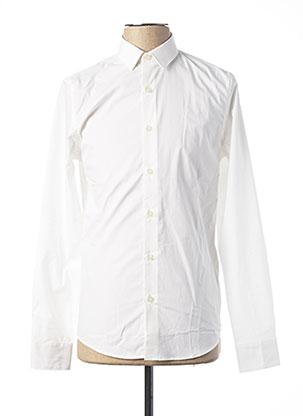 Chemise manches longues blanc CALVIN KLEIN pour homme