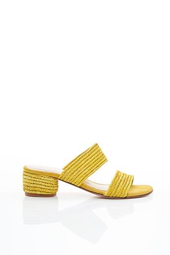 Mules/Sabots jaune CHARLOTTE WOIVRE pour femme