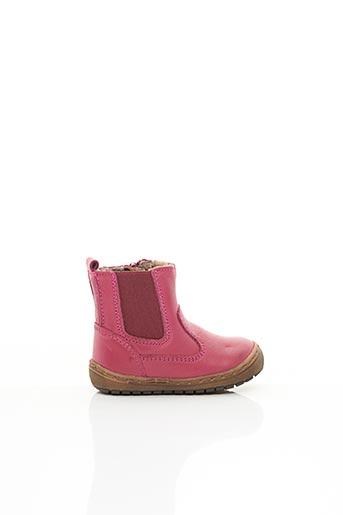 Bottines/Boots rose BISGAARD pour fille