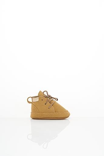 Chaussons/Pantoufles beige BOUMY pour enfant