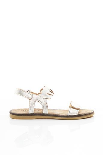 Sandales/Nu pieds gris BISGAARD pour fille