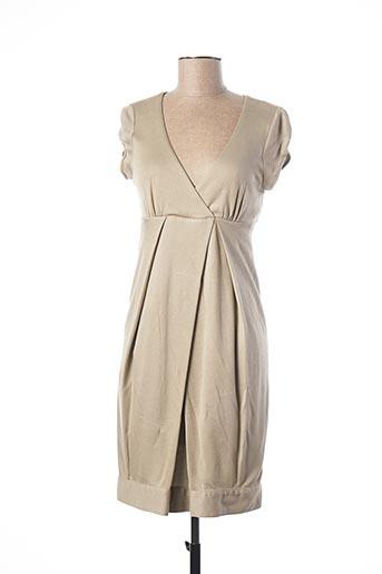 Robe mi-longue beige TEENFLO pour femme