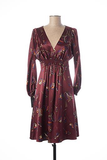 Robe mi-longue rouge TEENFLO pour femme