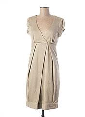 Robe mi-longue beige TEENFLO pour femme seconde vue