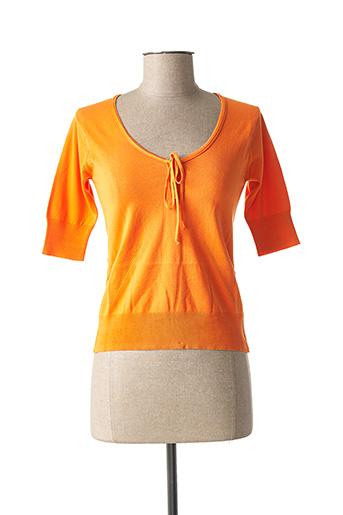 Pull col rond orange STEFAN GREEN pour femme