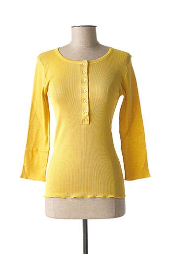 T-shirt manches longues jaune STEFAN GREEN pour femme