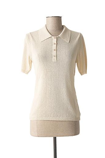 Polo manches courtes beige STEFAN GREEN pour femme
