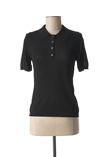 Polo manches courtes noir STEFAN GREEN pour femme