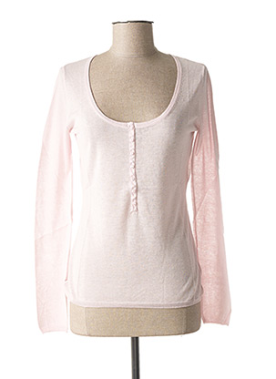 Pull col rond rose TEENFLO pour femme