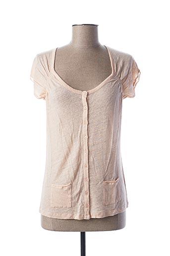 T-shirt manches courtes rose STEFAN GREEN pour femme