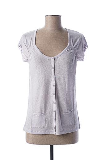T-shirt manches courtes violet STEFAN GREEN pour femme