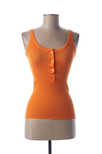Top orange STEFAN GREEN pour femme