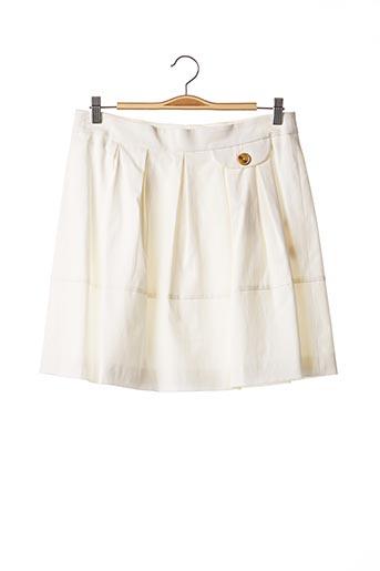 Jupe courte blanc TEENFLO pour femme