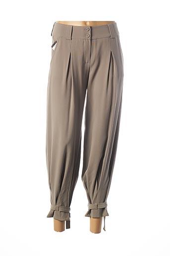 Pantalon casual gris TEENFLO pour femme