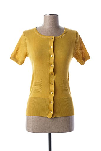 Gilet manches courtes jaune STEFAN GREEN pour femme
