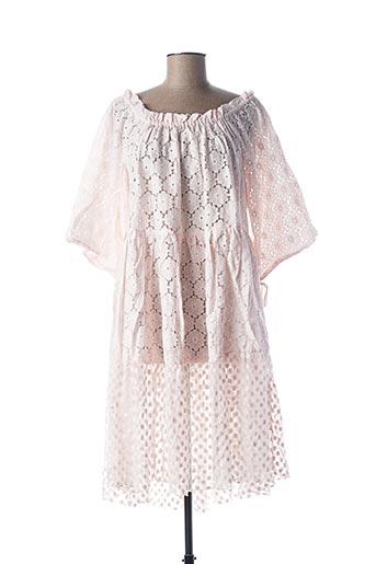 Robe mi-longue rose RHUM RAISIN pour femme