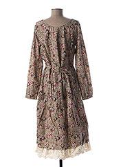 Robe mi-longue gris RHUM RAISIN pour femme seconde vue