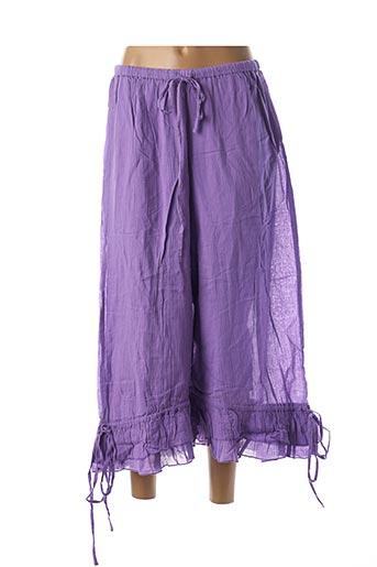 Pantalon 7/8 violet RHUM RAISIN pour femme