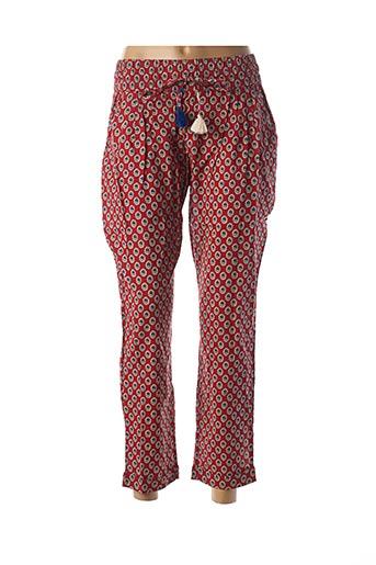 Pantalon casual rouge RHUM RAISIN pour femme