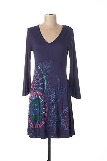 Robe mi-longue violet DESIGUAL pour femme