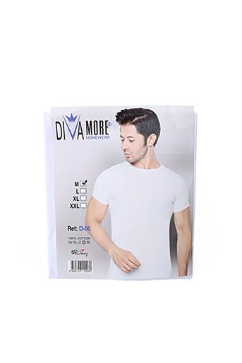 T-shirt manches courtes blanc DIVAMORE pour homme