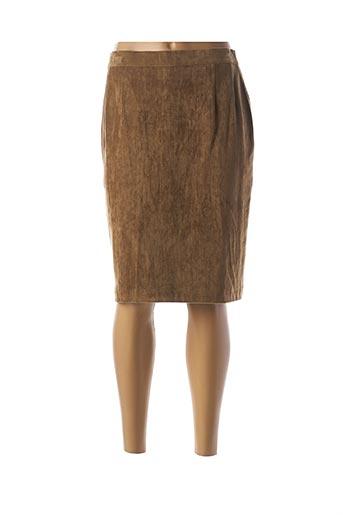 Jupe mi-longue marron CHARLES LORENS pour femme