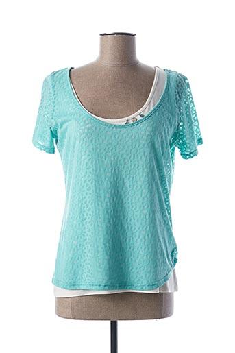 T-shirt manches courtes bleu DESAIVRE pour femme