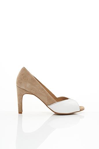 Sandales/Nu pieds beige COR BY ANDY pour femme