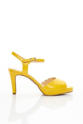 Sandales/Nu pieds jaune EMANUELLE CÔME pour femme