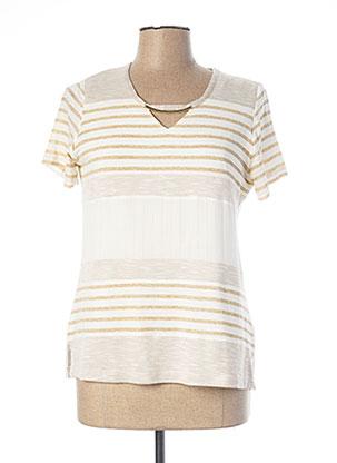 T-shirt manches courtes beige MERI & ESCA pour femme