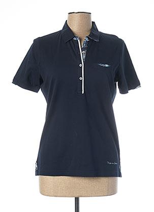 Polo manches courtes bleu MISE AU GREEN pour femme