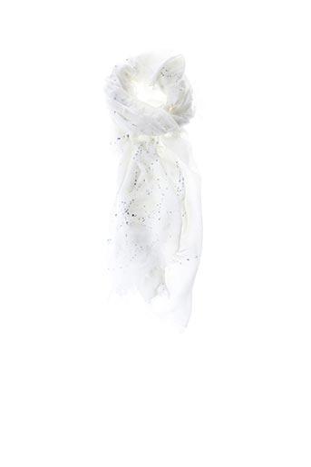 Foulard blanc E.SAVALL pour femme