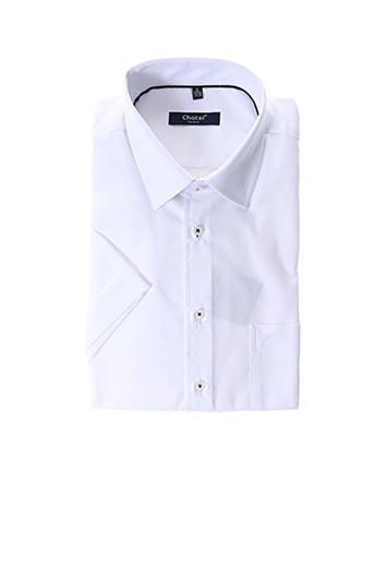 Chemise manches longues blanc CHATEL pour homme