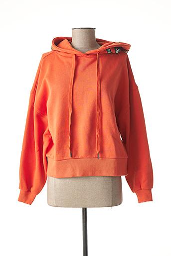 Sweat-shirt orange ESSENTIEL ANTWERP pour femme