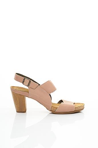 Sandales/Nu pieds rose EL NATURALISTA pour femme